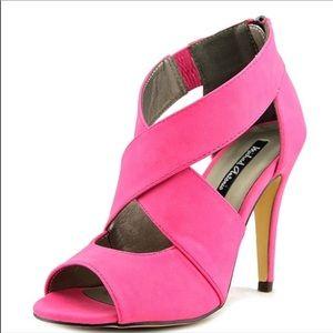 Michael Antonio Tovey hot pink platform heels 7.5